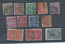 Germany stamps. Part of the 1921 series used cv £40+  See description (V633)