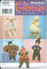 S 4825 Halloween COSTUME sewing PATTERN sew CUTE Lamb Witch Ladybug Pumpkin Duck