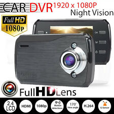 "2.4"" HD 1080P LCD NIGHT VISION CCTV CAR DVR ACCIDENT CAMERA VIDEO RECORDER 170°"