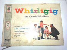 Whirligig The Musical Chair Board Game Art Linkletter House Party Milton Bradley