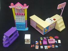 1998 Barbie Food Mart Playset, Candy Shop, & Accessories