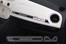 Adesivo Stickers Fiat 500 plancia Abarth nero