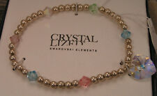 Striking new Swarovski Crystal AB Lized Pastel Heart Stretch Bracelet in Box