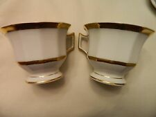 PAIR OF LIMOGES FRANCE T & V COFFEE CUPS