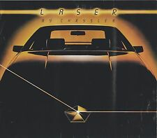 Big 1984 Chrysler LASER Brochure / Catalog with Color Chart: XE, TURBO