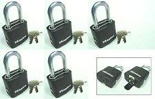 Lock Set by Master M115KALF (Lot 5) KEYED ALIKE Carbide Shackle Weather Sealed