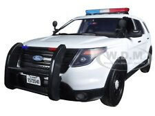 2015 FORD PI UTILITY INTERCEPTOR PLAIN WHITE POLICE CAR 1/18 BY MOTORMAX 73541