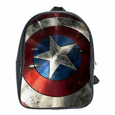 New Arrival Captain America Shield Marvel Avengers School Bag Backpack Laptop XL