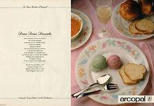 Publicité 1986  ( Double page )  ARCOPAL  assiette plat verre  art de la table