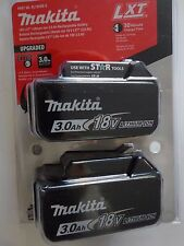 MAKITA BL1830B-2 18V 18 VOLT LITHIUM ION BATTERY PACKS NEW NIP X 2 W/ TESTERS