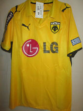 2009-2010 AEK Athens Player Issue Home Football Shirt Size Small BNWT /34053