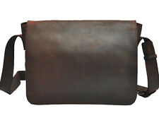 "Mens Real Leather Cowhide Vintage Coffee 13"" Satchel Shoulder Messenger Bags"