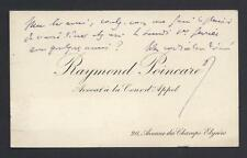 Raymond Poincaré French President Signed Calling Card