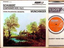LONDON ffrr UK Schubert MUNCHINGER Symphony #4 & #5 (Re: SXL-6086) STS-15095