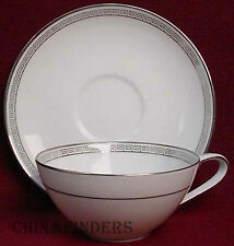 NORITAKE china SILVER KEY 5941 pttrn CUP & SAUCER Set