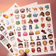 20Pcs/Sheet Emoji Smile Expression Face Sticker IPhone Android Decor Stickers