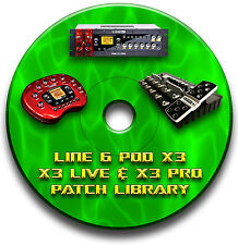 LINE 6 POD X3 LIVE PRO PRE-PROGRAMMED PATCHES CD OVER 2000! GUITAR EFFECTS PEDAL