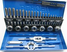 32pc HSS Metric Tap & Die Set M3-M12 1st 2nd & Plug Finishing Bergen 2553