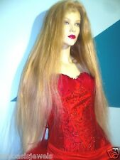 Remi Remy Full Lace Wig Glueless Silk Top Human Hair Blonde Straight 32 in. Long