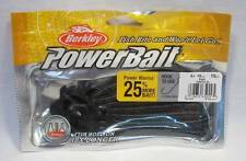 "Berkley 4"" Black Power Worm Powerbait Soft Plastic Fishing Bait Lures Saltwater"