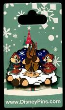 Chip and Dale Roasting Acorns bir Fire Holiday Christmas 2016 Disney Pin