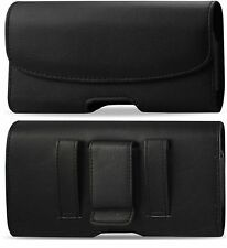 FOR HTC Desire 626s LEATHER POUCH BELT CLIP HOLSTER FITS A THIN CASE ON PHONE