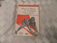 What's What In Football Weekly Publication  October 23, 1939