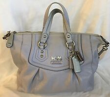 COACH 14316 Madison Audrey Lavender Leather Convertible Satchel Bag Purse-HTF