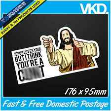 Jesus Loves You... Sticker/ Decal - Funny 4x4 Straya OZ Bogan LOL UTE COMMO V8