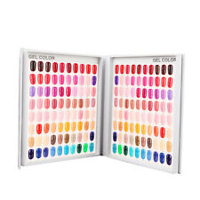 120 Nail Tip Colour Chart Display Book With Tips For Uv/Led Gel Polish Nail Art