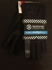 Isotoner Signature Active Smartouch Phone Touch Women's Gloves XS small Black