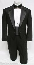 40 R Karl Lagerfeld Mens Black Full Dress Tuxedo Tailcoat Tux Tails Coat Wedding