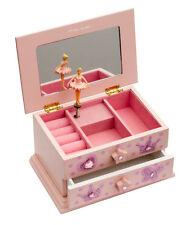Girls Pink Beautiful Ballet Dance Wooden Music Jewellery Box Katz Dancewear JB08