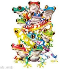 Frog Balance HEAT PRESS TRANSFER for T Shirt Sweatshirt Tote Quilt Fabric  261d
