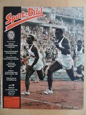 SPORT IM BILD 18- 25.8. 1956 Sachsenring-Rennen 100m Weltrekord Williams Kanu-DM