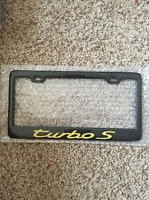 Real Handmade Carbon Fiber License Plate Frame Porsche 911 Carrera Turbo S 991