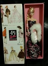 45TH ANNIVERSARY SILKSTONE Barbie LIMITED BFMC~NRFB blonde in box .