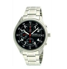 SEIKO Chronograph Quartz for Men SND225PC Black from Japan  [JP]