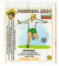 Portugese Gorila gum Wax Wrapper Euro 2004 - Team Colours & Flag - #10 Bulgaria
