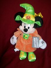 """Disney Store Halloween Witch MINNIE MOUSE Plush 15"""" Authentic DISNEY PATCH NWT"""