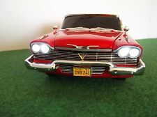 "PLYMOUTH 1958 FURY ""CHRISTINE"" FULL WORKING LIGHTS AND SUNDYM WINDOWS 1.18 SCALE"