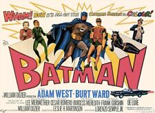 Batman 1966 Film Adam West Burt Ward Vintage Movie Poster Print Picture A4
