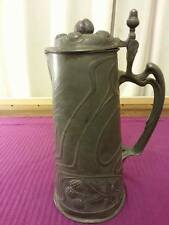 OSIRIS art nouveau pewter jugenstil zinn Beer Stein tankard pitcher 601
