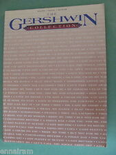 George Gershwin Collection Music Book Piano Guitar Vocal 1992