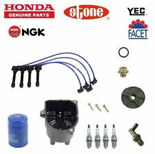 Cap-Rotor-NGK Wires-Spark Plug PCV Tine Up Kit 88-91 Honda Civic CRX D16A6