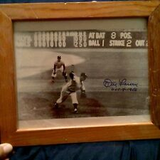 DON LARSEN PERFECT GAME FRAMED PICTURE SIGNED AUTOGRAPH Oct-8-1956
