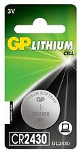 2 x GP 2430 3V Lithium Coin Cell Batteries CR2430 DL2430 Battery - New
