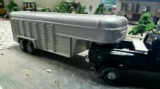 Custom ERTL1/64 goose neck trailer flat bed DCP Dioramas farm tilt deck hauler