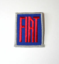 2 Vintage Fiat Automotive Car Service Mechanic Cloth Jacket Patch New NOS 1970s