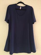 NWOT LuLaRoe Perfect T Shirt Large Solid Blue USA Lightweight